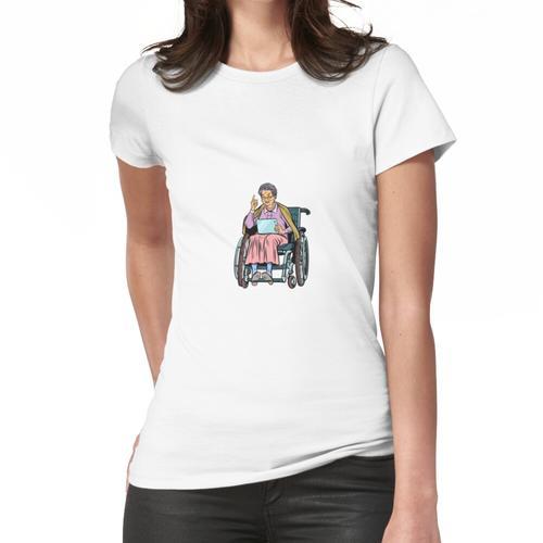 ältere Frau behinderte Person im Rollstuhl Frauen T-Shirt