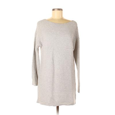 CALVIN KLEIN JEANS Casual Dress - Sweater Dress: Gray Print Dresses - Used - Size Small