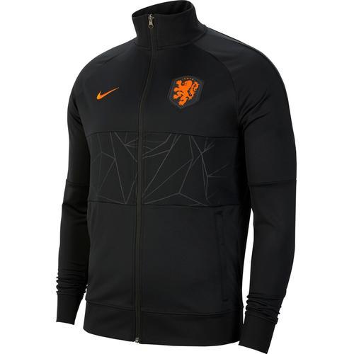 Nike Niederlande 2021 Trainingsjacke Herren in black-black-black-safety orange, Größe L