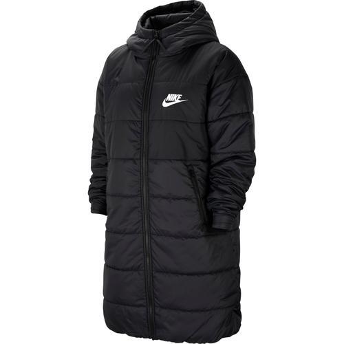 Nike NSW Core Steppmantel Damen in black-white-white, Größe M