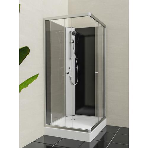 Eisl Komplettdusche Graz 1, inklusive Armatur weiß Duschkabinen Duschen Bad Sanitär