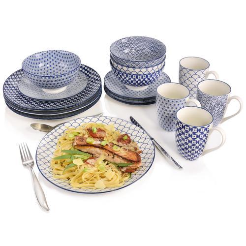 SÄNGER Kombiservice Ozaki, (16 tlg., Ozaki aus Porzellan 16 teilig) weiß Geschirr-Sets Geschirr, Tischaccessoires Haushaltswaren