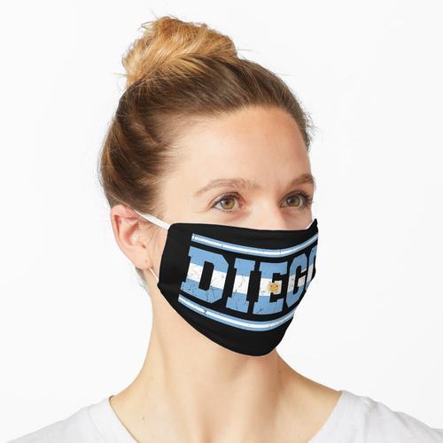 Diego Argentinien Argentinische Flagge Maske