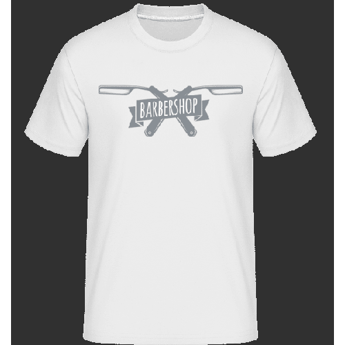 Barbershop Logo - Shirtinator Männer T-Shirt