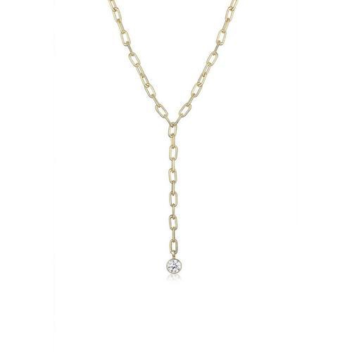Elli Collierkettchen »Y-Kette Geo Trend Kristalle 925 Silber«
