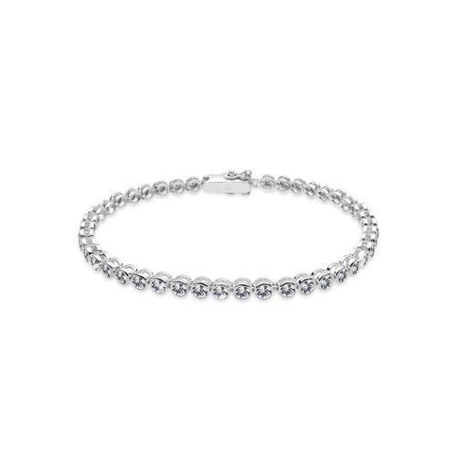 Elli Armband »Tennis Armband mit Kristalle Silber«