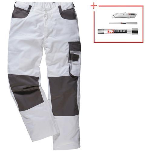 Arbeitshose Extreme+, mit Knieverstärkung weiß Herren Arbeitshosen Arbeits- Berufsbekleidung