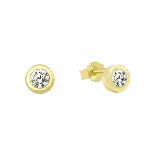Ohrstecker für Damen, Gold 375, Zirkonia amor Gold