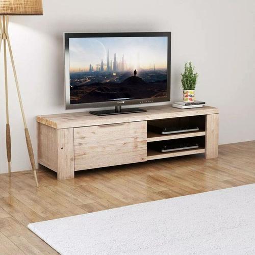 TV Schrank Gehobeltes Akazienholz 140 x 38 x 40 cm 10461 - Topdeal