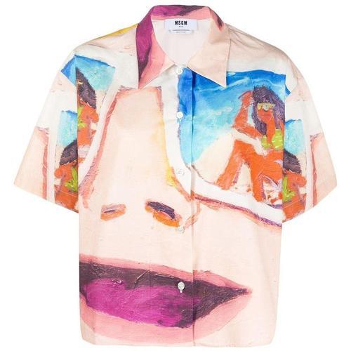 MSGM Kurzärmeliges Hemd mit Print