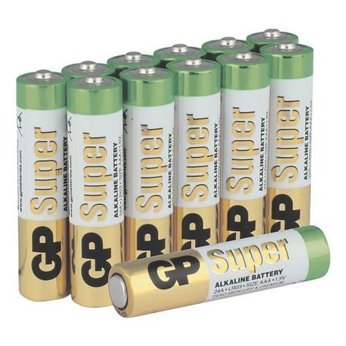 12er-Pack Batterien »Super Alkaline« Micro/ AAA / LR03, GP Batteries