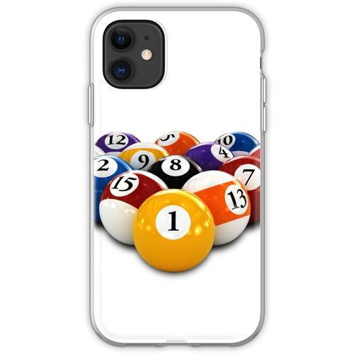 Billardtisch Billard oder Snooker Bälle mit Zahlen Flexible Hülle für iPhone 11