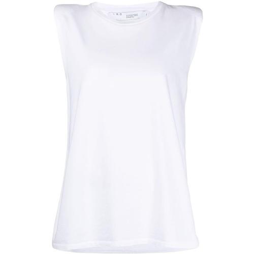 IRO T-Shirt mit Schulterpolstern