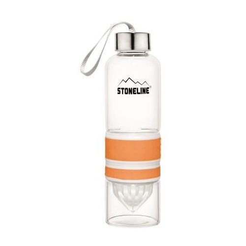 STONELINE Trinkflasche, (Set, 1 tlg.), herausnehmbarer Saftpressen-Aufsatz, 0,55 L orange Aufbewahrung Küchenhelfer Haushaltswaren Trinkflasche