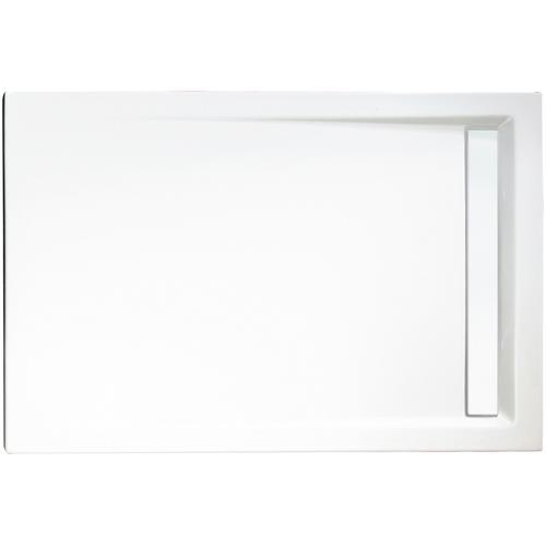 Schulte Rechteckduschwanne mit Rinnenabdeckung, BxT: 120 x 90 cm weiß Duschwannen Duschen Bad Sanitär