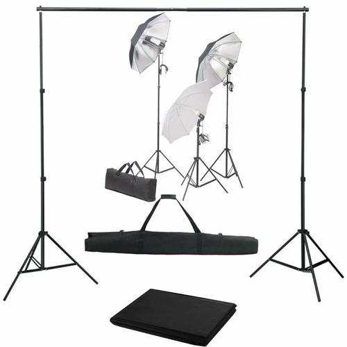 YOUTHUP Fotostudio-Set mit Lampen-Set und Hintergrund