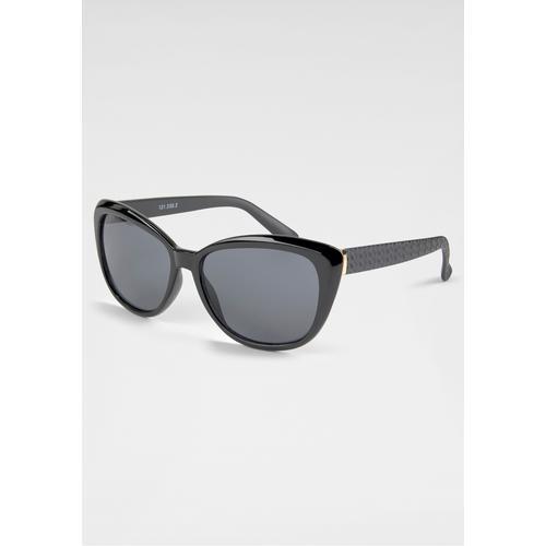 catwalk Eyewear Sonnenbrille, im Retro-Look schwarz Damen Ovale Sonnenbrille Sonnenbrillen Accessoires