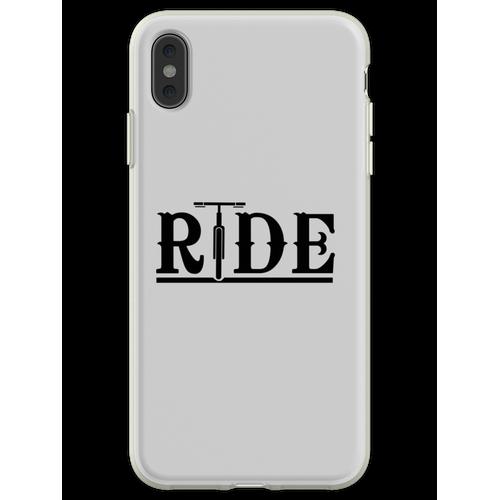 Fahräder fahren Flexible Hülle für iPhone XS Max