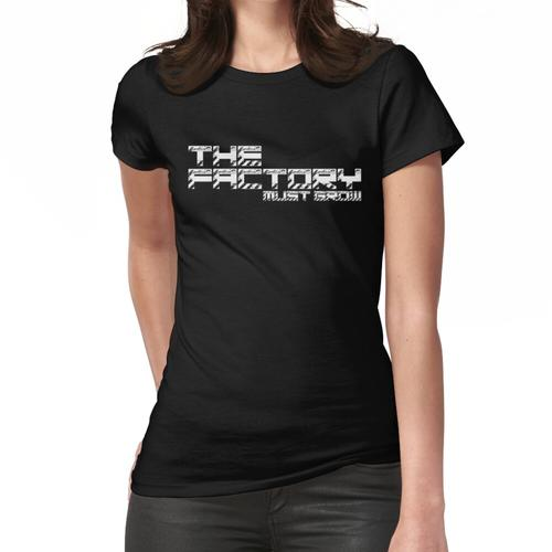 The Factory Must Grow Factorio Meme Women's Fitted T-Shirt