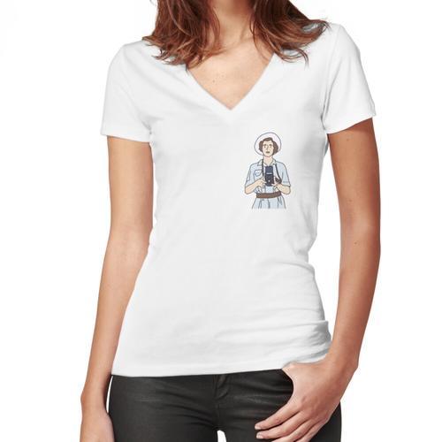 Vivian Maier Women's Fitted V-Neck T-Shirt