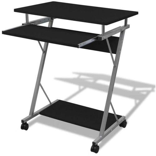Computertisch Computerwagen PC Tisch Bürotisch Laptop Rollen schwarz 07398