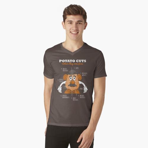 Kartoffelschnitte t-shirt:vneck