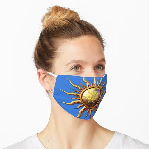 Sonnenanbeter und gute Stimmung Maske