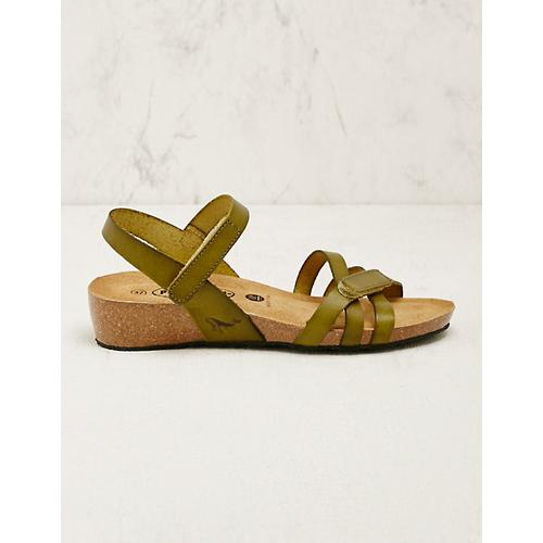 Plakton Damen Leder-Sandalen Sighild grün
