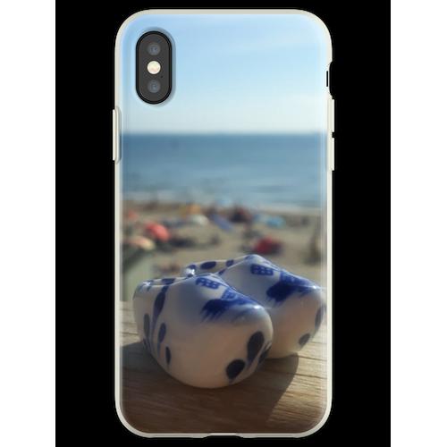 Dutch Clogs Summer Beach Flexible Hülle für iPhone XS