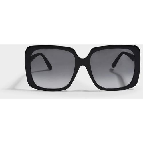 Gucci Sonnenbrille rechteckig aus Azetat Havane