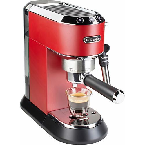 De'Longhi Siebträgermaschine EC 685.R Dedica, 1350 Watt, 15 Bar rot Kaffee Espresso SOFORT LIEFERBARE Haushaltsgeräte
