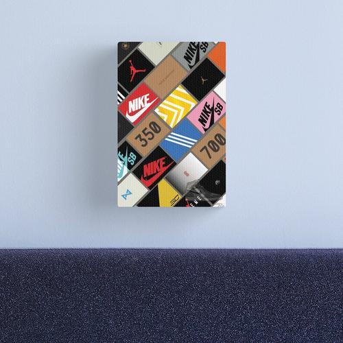 sneakers wallpaper box Canvas Print