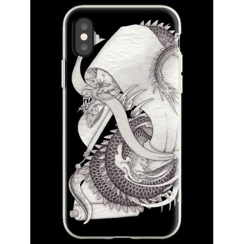 Lange Schlange lange Schlange lange Schlange Flexible Hülle für iPhone XS