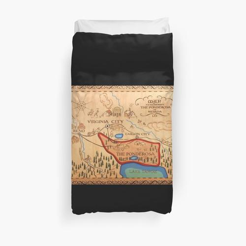 Ponderosa Map Bonanza Duvet Cover