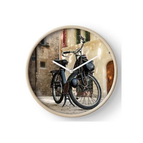 Fahrrad mit Hilfsmotor Solex Uhr