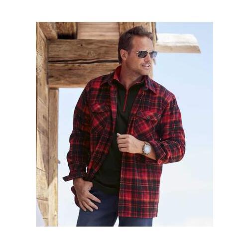 Hemdjacke aus Fleece im Holzfäller-Look