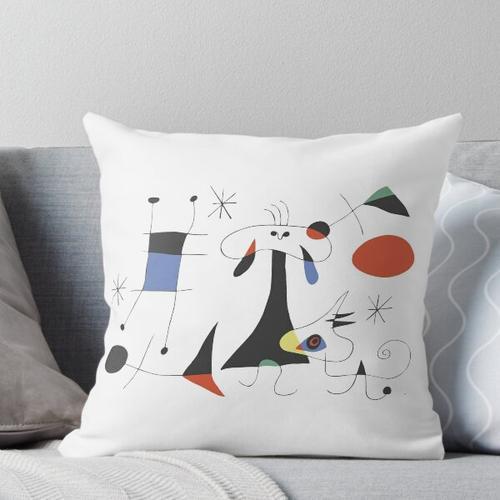 Joan Miró Die Sonne (El Sol) 1949 - Attraktivste Malerei von Miro für alle Kissen