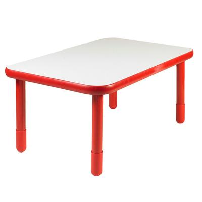 """""""BaseLine 48"""""""" x 30"""""""" Rectangular Table - Candy Apple Red with 22"""""""" Legs - Children's Factory AB745RPR22"""""""