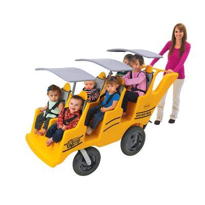 """6 Passenger Never Flat """"Fat Tire"""" Bye-Bye Bus - Children's Factory AFB6400SB"""