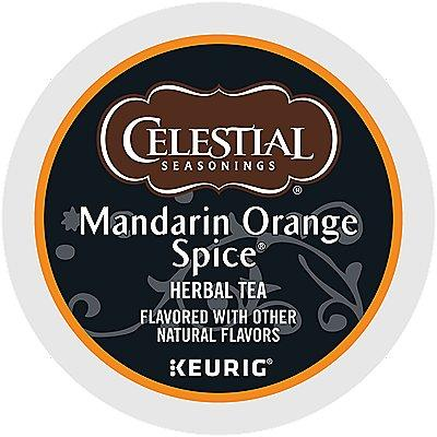 96 Ct Celestial Seasonings Mandarin Orange Spice Tea 96-Count (4 Boxes Of 24) K-Cup® Pods.
