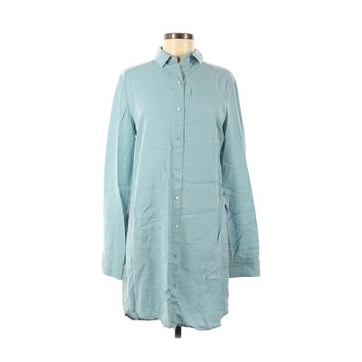 T by Alexander Wang Casual Dress - Shirtdress: Blue Solid Dresses - Used - Size Medium