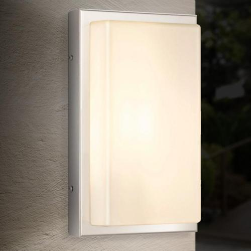 LCD 048SEN Wandleuchte mit Bewegungsmelder B: 17 H: 29 T: 9 cm, edelstahl/weiß 048SEN, EEK: A++