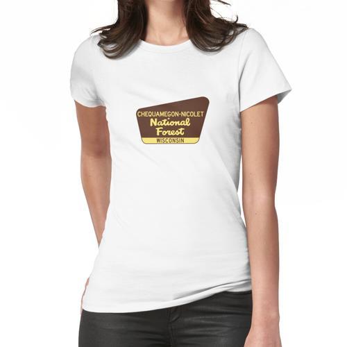 Chequamegon-Nicolet National Forest Wisconsin Zeichen Chequamegon Nicolet Park Frauen T-Shirt