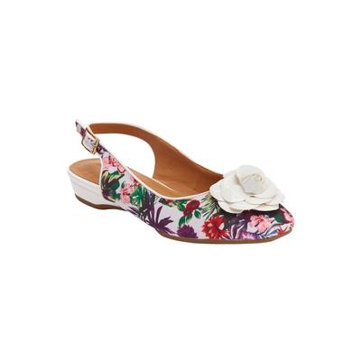 Women's The Jessa Sling by Comfortview in Tropical Floral (Size 11 M)