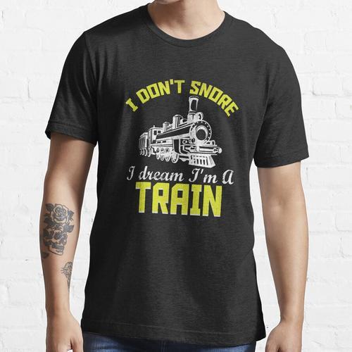 Züge Eisenbahn Lokomotive Eisenbahner Geschenk Essential T-Shirt