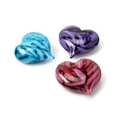 Candy Ribbon Heart Paperweight