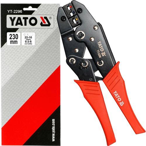 Yato Crimpzange Ratschen Presszange Für Isolierte Quetschverbinder Kabelschuhe Yato: Yt-2296