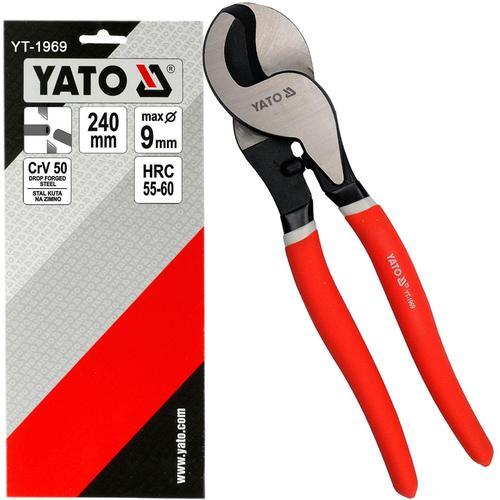 Yato Kraft Kabelschere 240mm Kabelschneider Seitenschneider Kabel-zange Schere Yato: Yt-1969