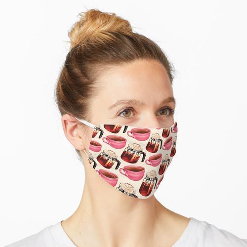 Kaffee & Percolator Muster Maske