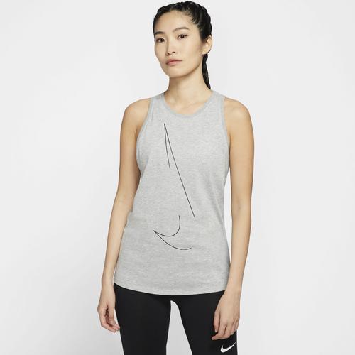 Nike Yogatop Dry Yoga Tanktop grau Damen Ärmellose Shirts Sweatshirts
